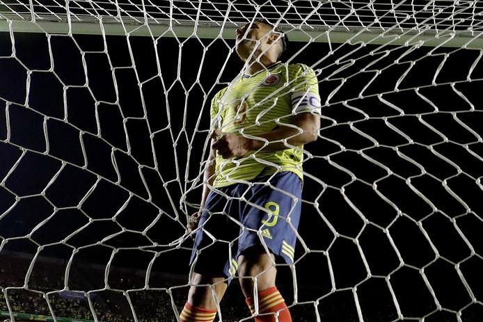 Radamel Falcao Garcia (Colombia) tijdens de wedstrijd.