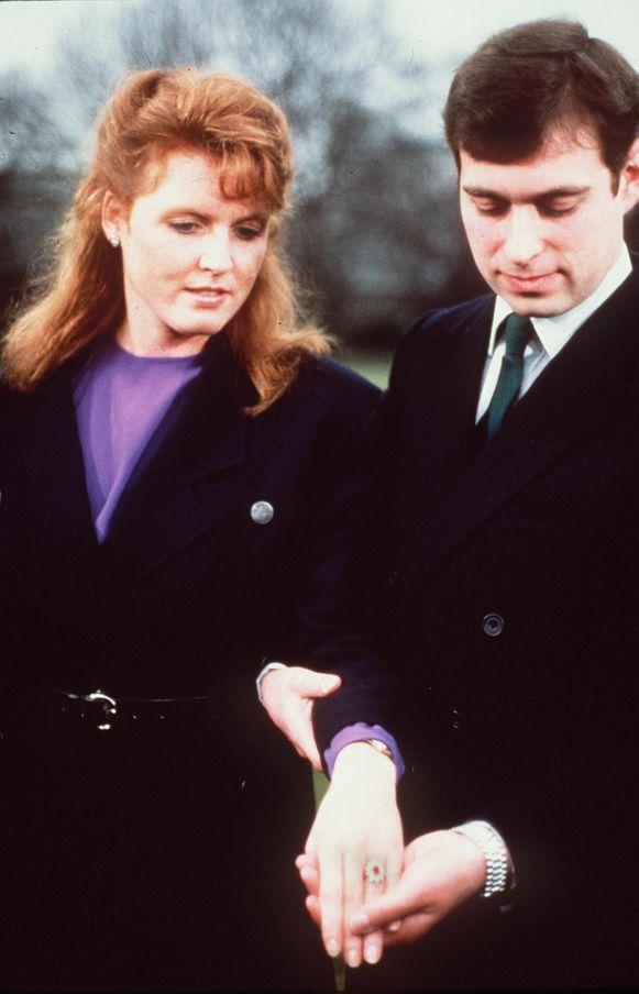 Prins Andrew en Sarah Ferguson verloofden zich in maart 1986. Ze zijn ondertussen uit elkaar.