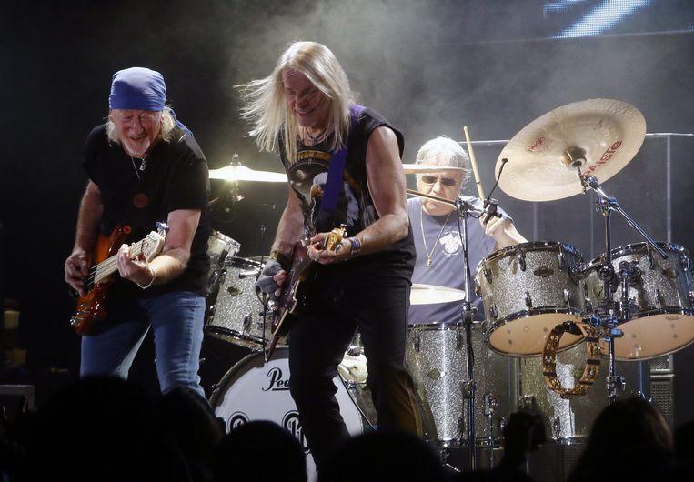 Deep Purple aan het werk in 2015. Birch was verantwoordelijk voor 'Deep Purple In Rock'