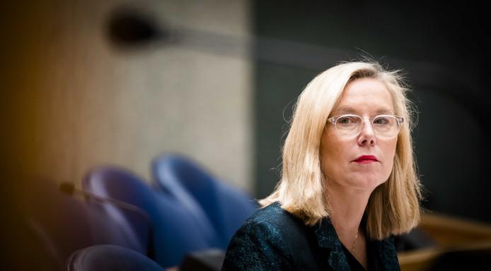 Minister Kaag in debat met de Tweede Kamer.