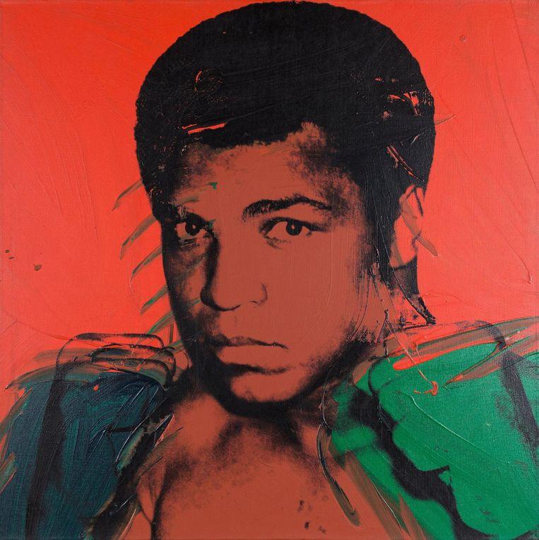 Muhammed Ali van Andy Warhol in het Tate Modern. Beeld
