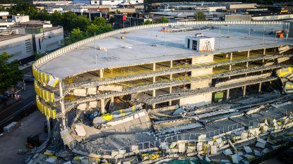 Nieuwe parking Eindhoven Airport ingestort