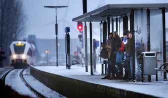 Minder treinen en code geel wegens verwachte sneeuw