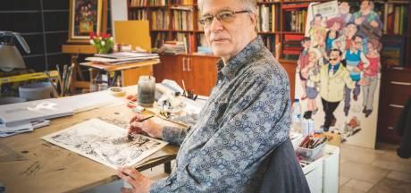 Hec Leemans, striptekenaar van F.C. De Kampioenen en Bakelandt, tekent halve eeuw strips