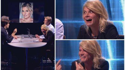 Dit had ze niet zien aankomen: Nathalie Meskens zit plots zelf in sketch 'Blind Getrouwd'