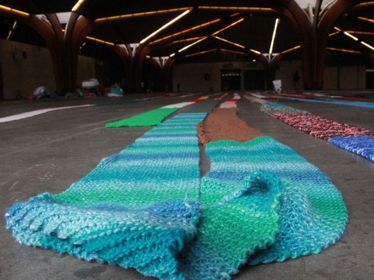Langste sjaal meet maar liefst 4,56 kilometer.
