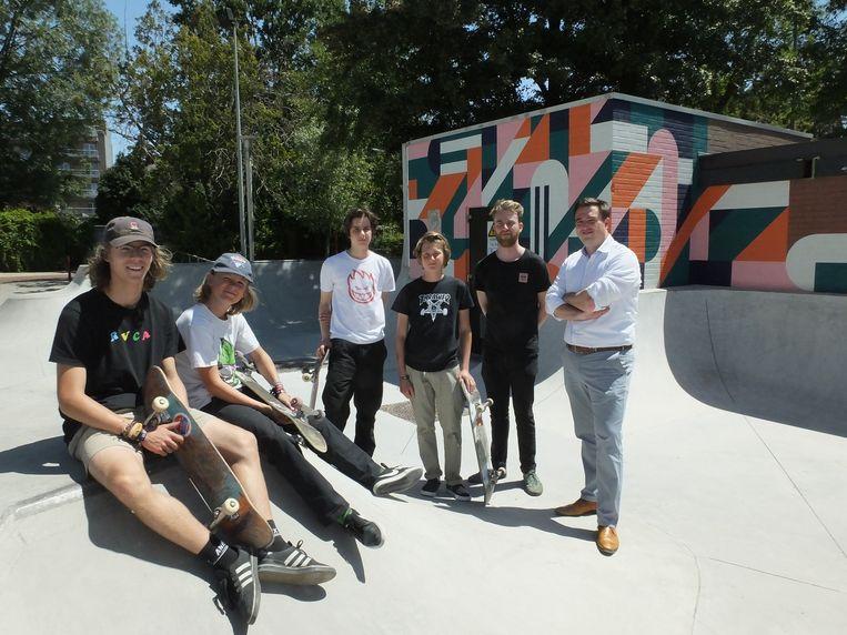 Deinze: de nieuwe muurschildering siert de elektriciteitsvoorzieningen aan het skatepark Briel.