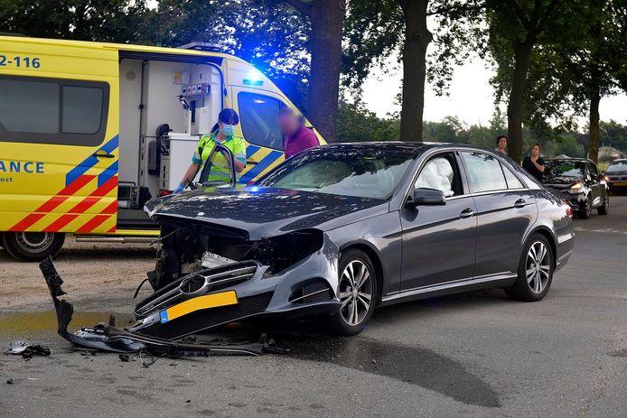 Drie gewonden bij aanrijding op Boksheidsedijk in Eersel.