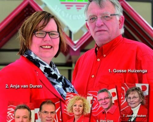 Poster PvdA Menterwolde: vermoedelijk iets te enthousiast bewerkt met de 'roodfilter'.