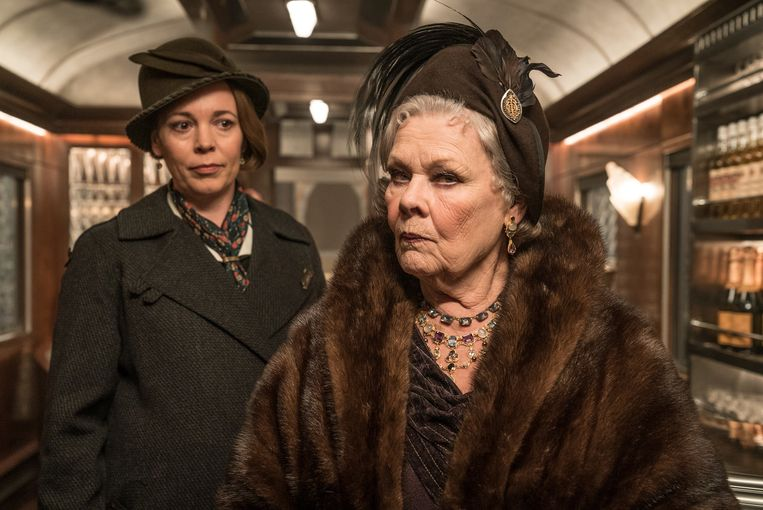 Olivia Colman en Dame Judi Dench in Murder on the Orient Express. Beeld RV