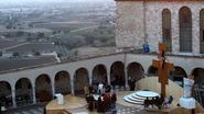 Paus bezoekt bedevaartsoord Assisi in Italië