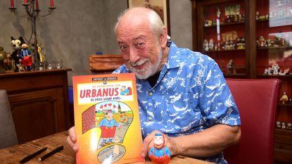 Urbanus haalt mosterd voor strip bij Dikke van Pamel