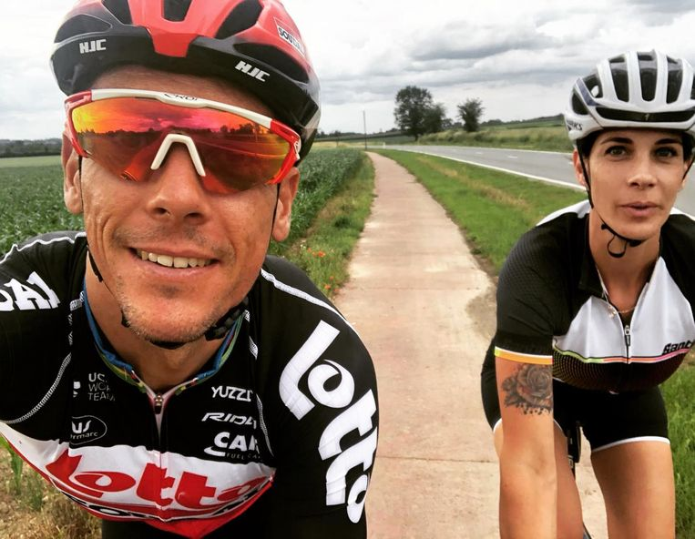 Philippe Gilbert en Bettina Pesce.