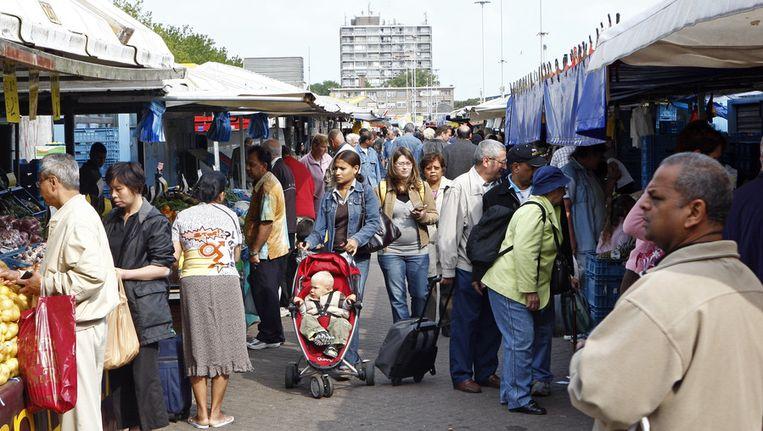 Markt in Den Haag. Beeld ANP