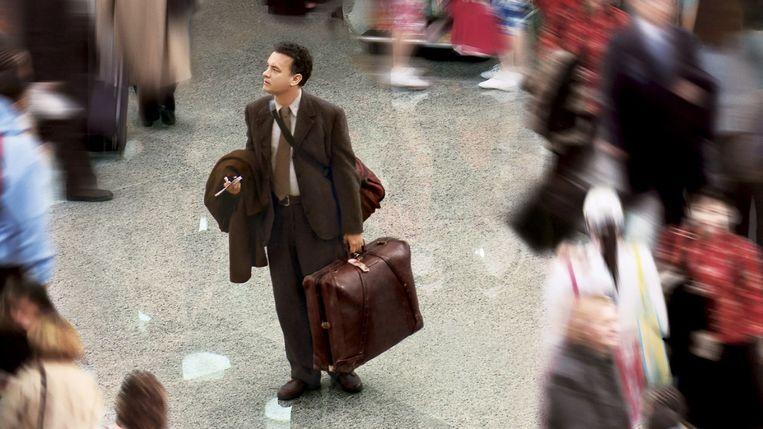 Hanks in The Terminal.  Beeld
