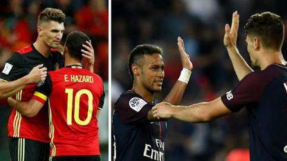 """Kiezen tussen Neymar of Eden Hazard. Thomas Meunier weet het wel: """"Hazard, zonder enige twijfel"""""""