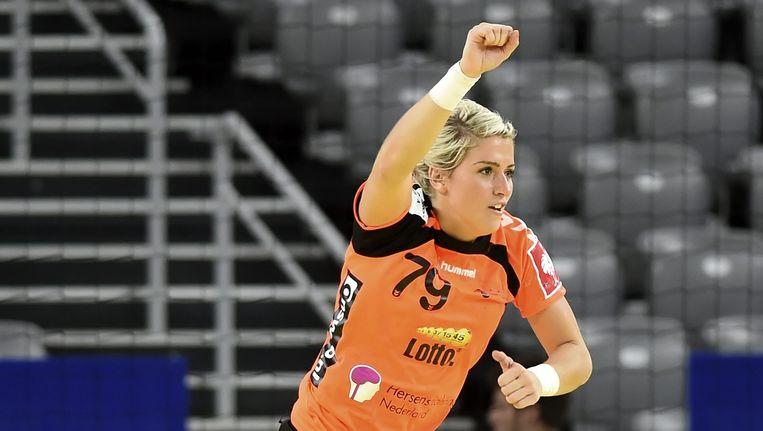 Sterspeelster van het Nederlands Elftal handbal, Estavana Polman. Beeld null