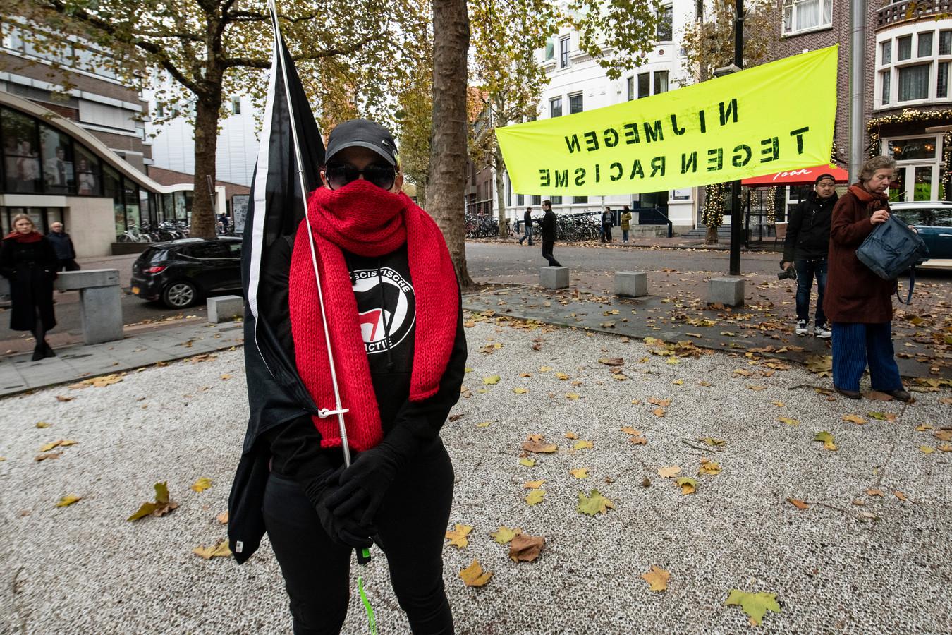 Manifestatie tegen fascisme en racisme op het Faberplein, november vorig jaar.