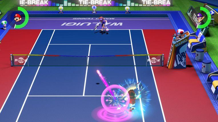 In de multiplayersectie kan er een match worden gespeeld. Maar ook die is wat speelser dan wat u misschien gewend bent van tennis.