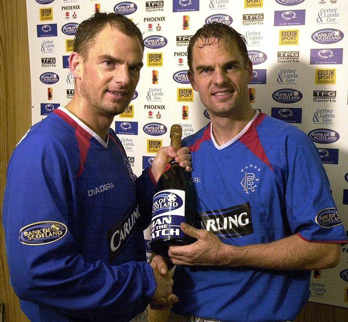 Ronald en Frank de Boer als spelers van Rangers.
