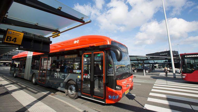 Een bus van de elektrische busvloot in metropoolregio Amsterdam Beeld Connexxion