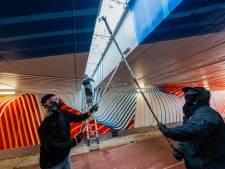 Fietstunnel in De Bilt met kunst gebaseerd op KNMI is geopend