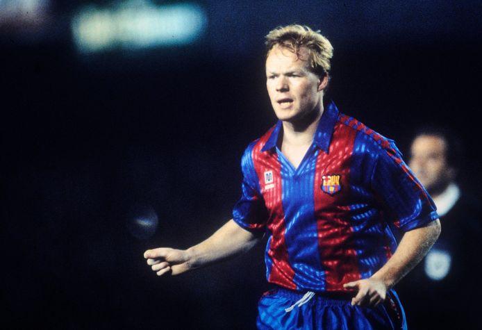 Wat hebben Ronald Koeman bij Barcelona en FC Twente gemeen? Het kledingmerk. De Spaanse club speelde in het seizoen van Cruijff's Dream Team in 1992 in Meyba. Het merk kleedt vanaf aankomend seizoen ook de Enschedese club.