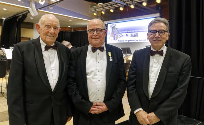 Mies Wagenaars, Piet Verhagen en Jan van den Bosch (vlnr).
