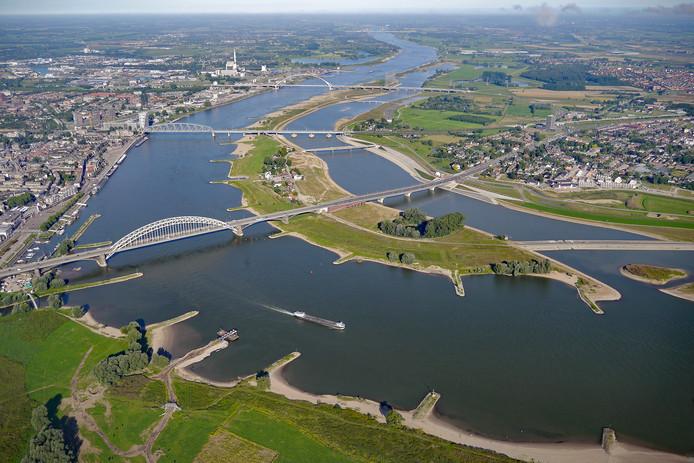De Spiegelwaal bij Nijmegen.