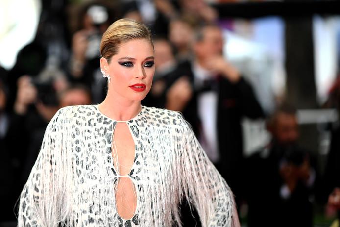 Doutzen Kroes in Cannes gisteren.