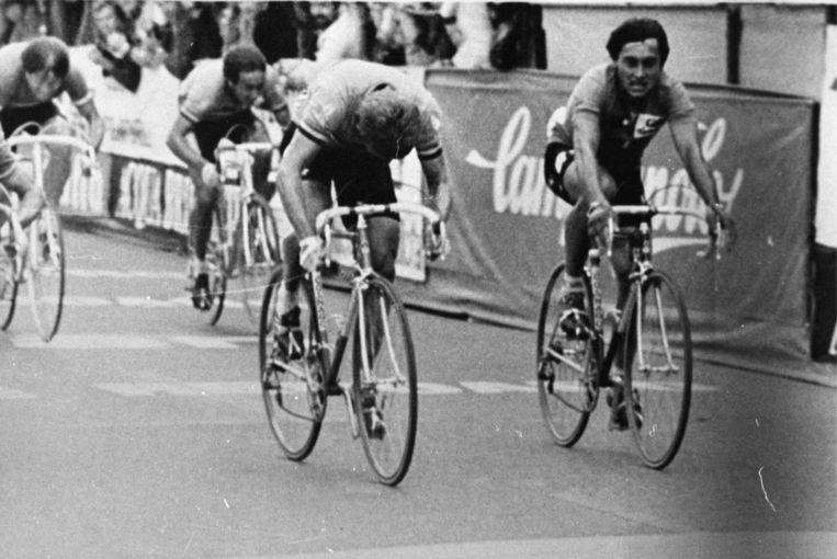 """Freddy Maertens kroont zich in 1981 tot wereldkampioen in Praag. Maertens: """"Met maar één ploegmaat: Gery Verlinden."""""""