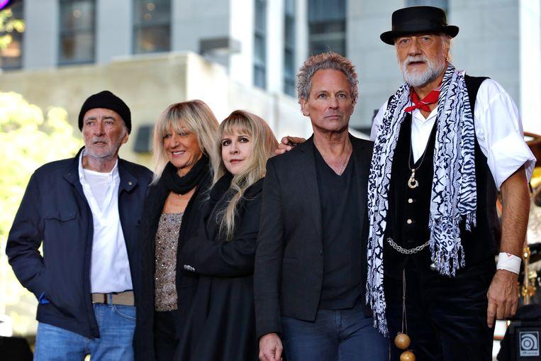 De bandleden van Fleetwood Mac. De band is in 1967 opgericht en keert dit jaar terug op Pinkpop, waar het in 1971 ook speelde.  Beeld REUTERS