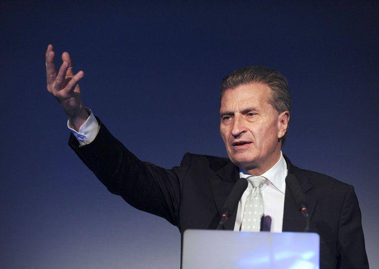 Günther Oettinger Beeld afp