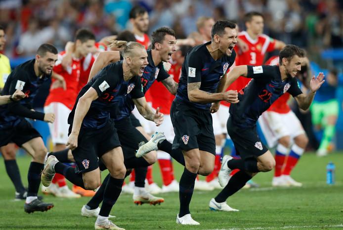 Het is gebeurd. Kroatië gaat naar de halve finale!