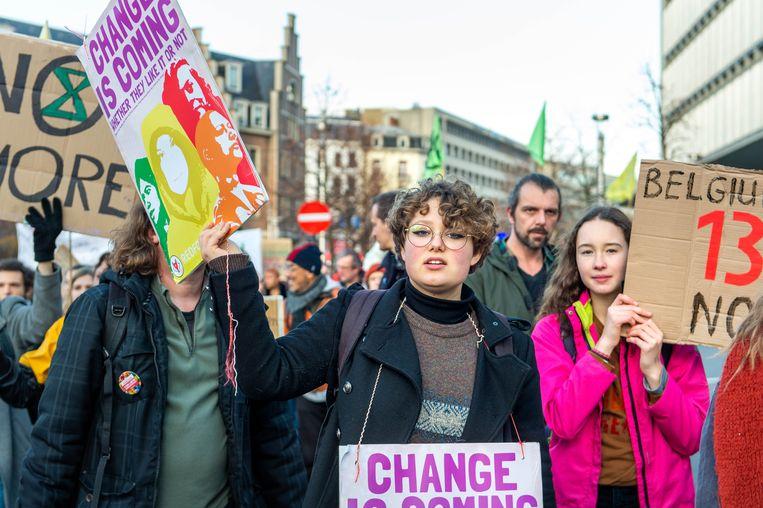 Klimaatbetogers in Brussel.