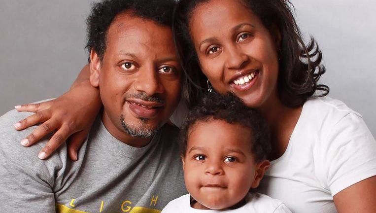 Abraham en Turufat Abebe en hun zoontje Abem. Beeld Eigen foto