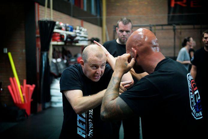 Timo Hennekes, tijdens een krav maga-training.