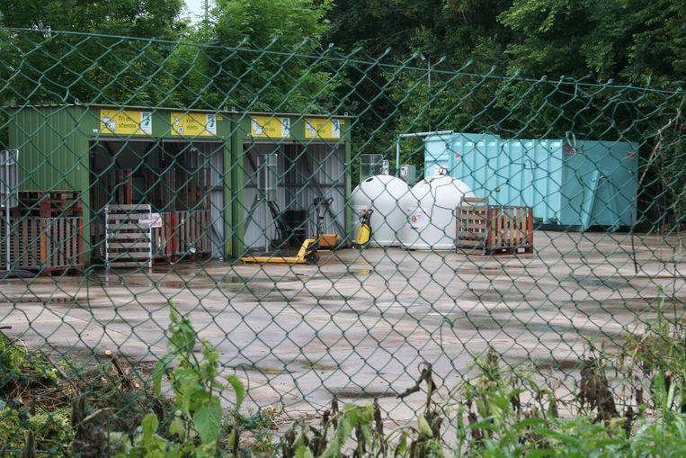 Het containerpark van Hoegaarden is nog slechts één dag per week open