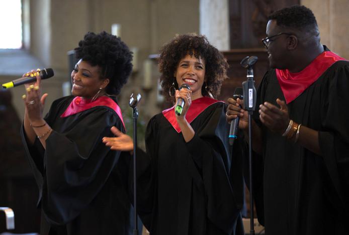 G-Roots maakt er zondag een feestje van tijdens de traditionele jazz- en gospeldienst in de Andreaskerk. Foto Theo Kock