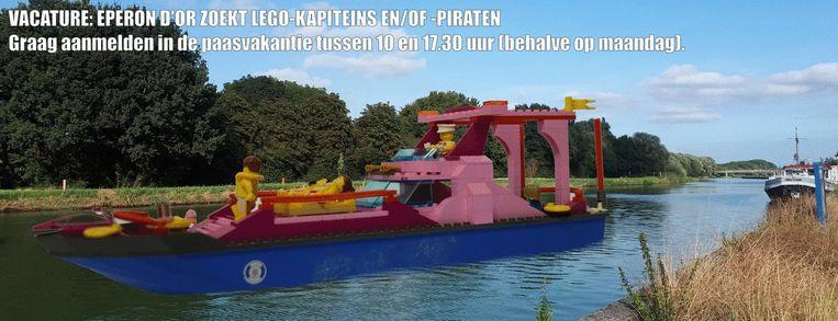 Er zijn LEGO-workshops in stadsmuseum Eperon d'Or.