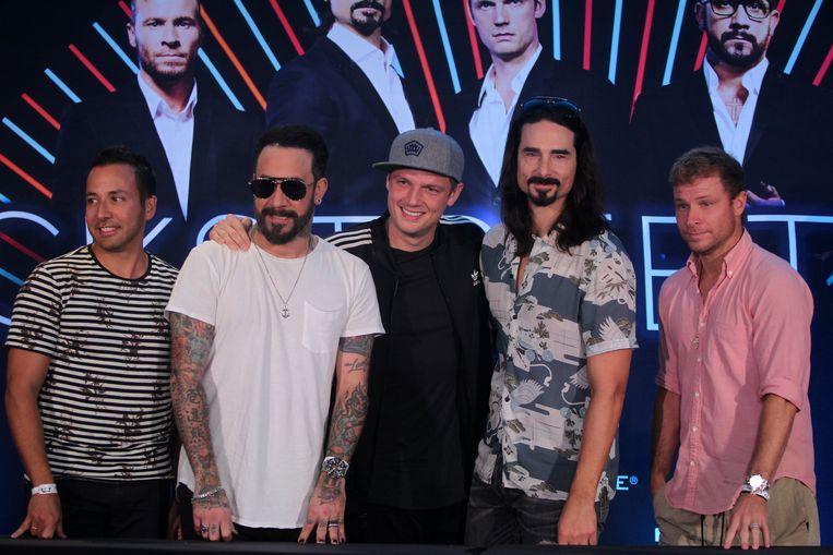 De Backstreet Boys nu: Howie, AJ, Nick, Kevin en Brian.