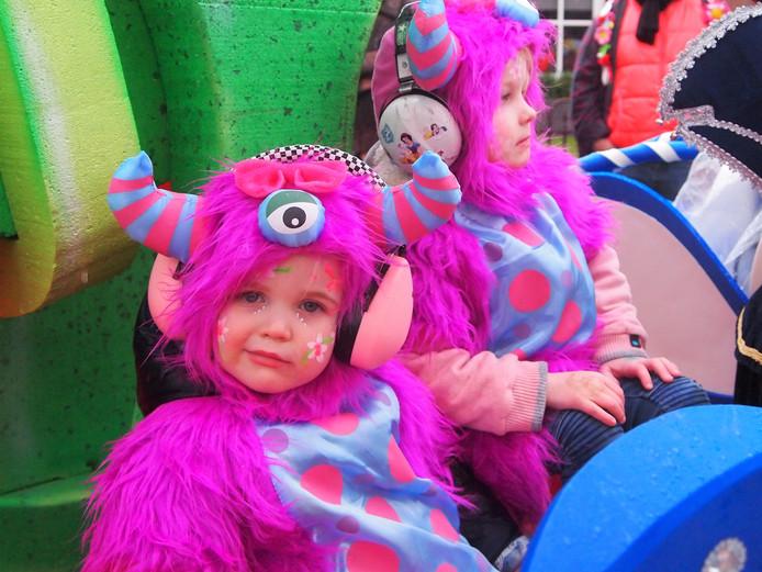 Beeld van de carnavalsoptocht dit jaar in Bladel.