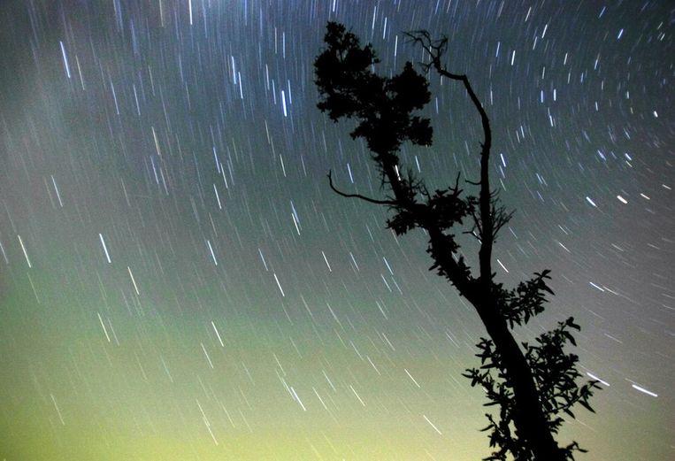 De sterrenhemel boven de Gzhel regio in Rusland (Archieffoto 2005) Beeld afp