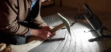 Loodzware 'nieuwe' molenstenen voor de Wijchense Molen