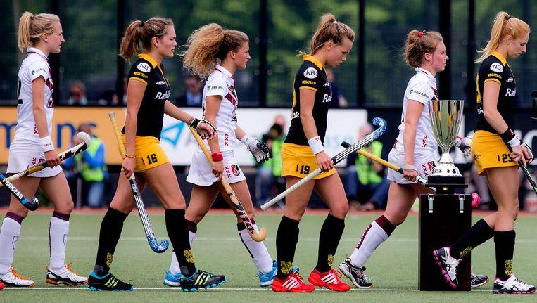 De hockeydames van Amsterdam verloren onlangs het landskampioenschap tegen Den Bosch. Beeld ANP