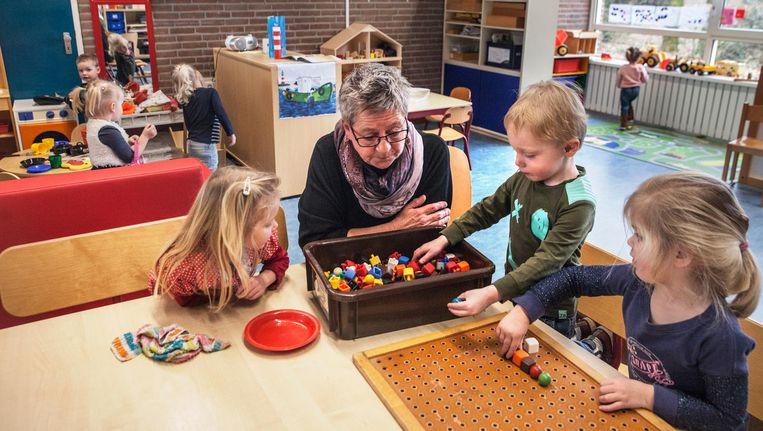 Op de voorschool De Oliebron in Schoonebeek. Beeld Aurélie Geurts