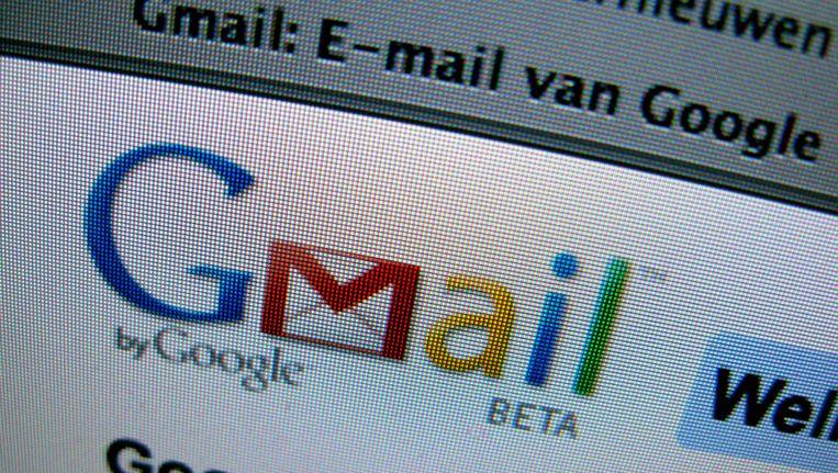 Het logo van Gmail op Internet. Beeld anp