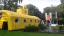 De duikboot werd op dinsdagavond al bij Auberge du Bonheur uitgeprobeerd.