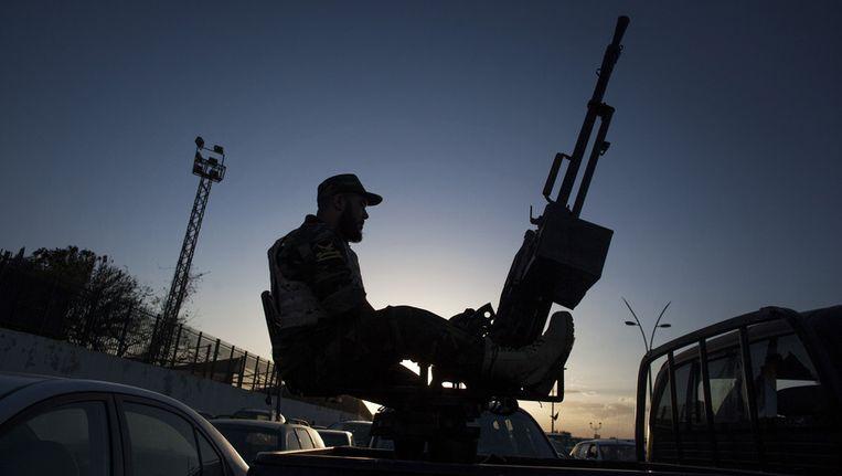 Een militair in Libië. Beeld ap