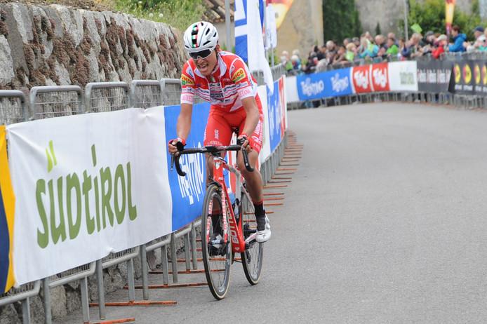 Masnada in actie tijdens de Ronde van de Alpen.